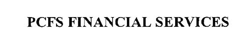PCFS FINANCIAL SERVICES