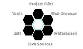 PROJECT FILES TOOLS WEB BROWSER EXIT WHITEBOARD LIVE SOURCES
