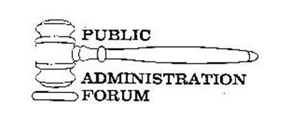 PUBLIC ADMINISTRATION FORUM