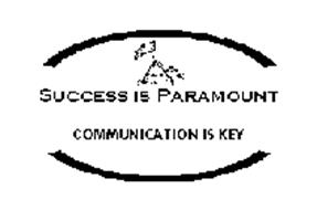 SUCCESS IS PARAMOUNT COMMUNICATION IS KEY