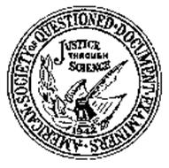 AMERICAN-SOCIETY OF QUESTIONED-DOCUMENT-EXAMINERS - JUSTICE THROUGH SCIENCE 1942