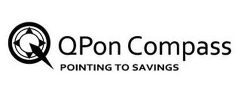 QPON COMPASS POINTING TO SAVINGS