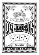 MOTOR BRAND HIGH QUALITY PLAYING CARDS NO. 976 PLASTIC COATED
