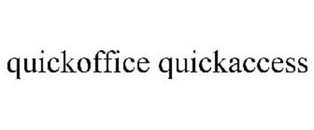 QUICKOFFICE QUICKACCESS