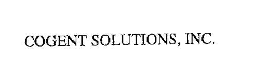 COGENT SOLUTIONS, INC.