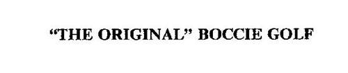"""""""THE ORIGINAL"""" BOCCIE GOLF"""