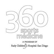 360 SPORTS MEDICINE A PROGRAM OF RADY CHILDRENS HOSPITAL-SAN DIEGO