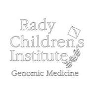 RADY CHILDREN'S INSTITUTE GENOMIC MEDICINE