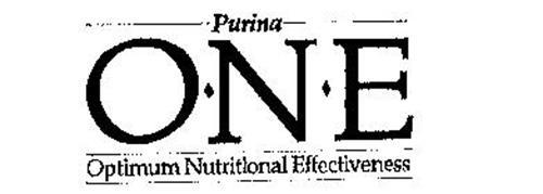 PURINA O-N-E FOR OPTIMUM NUTRITIONAL EFFECTIVENESS