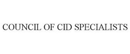 COUNCIL OF CID SPECIALISTS
