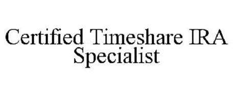 CERTIFIED TIMESHARE IRA SPECIALIST
