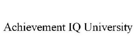 ACHIEVEMENT IQ UNIVERSITY