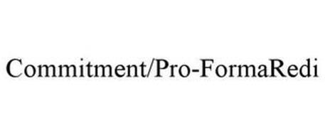 COMMITMENT/PRO-FORMAREDI