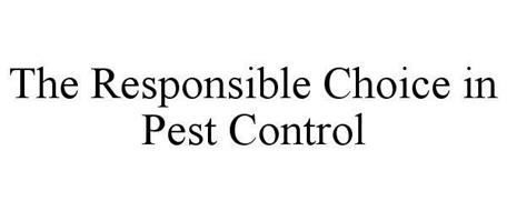 THE RESPONSIBLE CHOICE IN PEST CONTROL