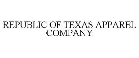 Republic of texas apparel company trademark of republic of for Texas tee shirt company