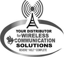 YOUR DISTRIBUTOR FOR WIRELESS COMMUNICATION SOLUTIONS REVERE * HOLT * COMPLETE