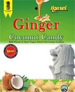 HONSEI GINGER COCONUT CANDY RICH FLAVOUR OF SPICY GINGERS PAIRED WITH CREAMY COCONUTS THIS AN AUTHENTIC MARK OF HONSEI PRODUCT C'EST UNE MARQUE AUTHENTIQUE DE PRODUCT DE HONSEI