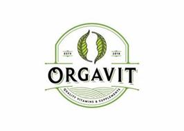 ORGAVIT ESTD 2018 QUALITY VITAMINS & SUPPLEMENTS