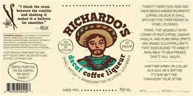 RICHARDO'S DECAF COFFEE LIQUEUR