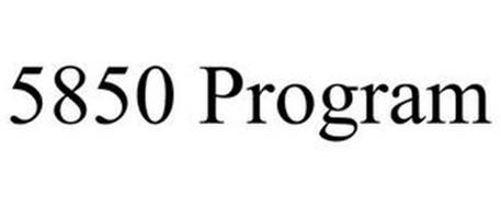5850 PROGRAM