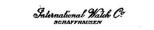 INTERNATIONAL WATCH CO. SCHAFFHAUSEN