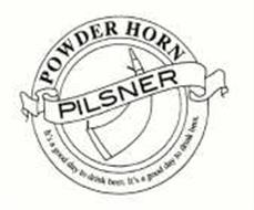 PILSNER POWDER HORN IT'S A GOOD DAY TO DRINK BEER.
