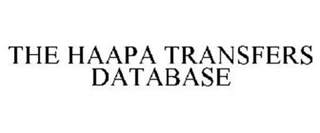 THE HAAPA TRANSFERS DATABASE