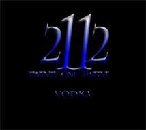 2112 TWENTY-ONE TWELVE VODKA