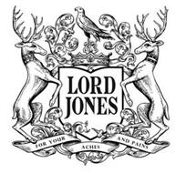 LORD JONES FOR YOUR ACHES AND PAINS