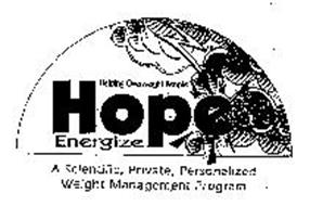 HOPE ENERGIZE HELPING OVERWEIGHT PEOPLE A SCIENTIFIC, PRIVATE, PERSONALIZED WEIGHT MANAGEMENT PROGRAM