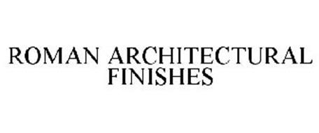 ROMAN ARCHITECTURAL FINISHES