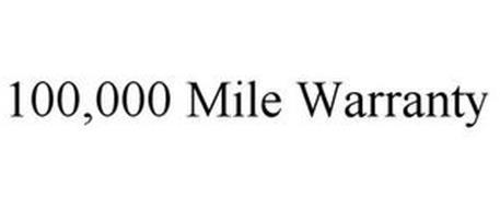100,000 MILE WARRANTY