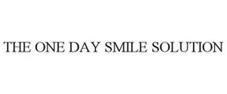 THE ONE DAY SMILE SOLUTION