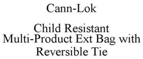 CANN-LOK CHILD RESISTANT MULTI-PRODUCT EXT BAG WITH REVERSIBLE TIE