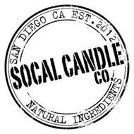 SAN DIEGO CA EST. 2012 SOCAL CANDLE CO. NATURAL INGREDIENTS