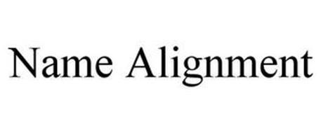 NAME ALIGNMENT