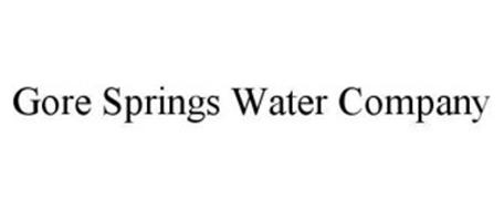 GORE SPRINGS WATER COMPANY