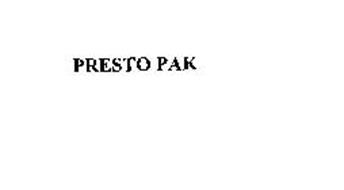 PRESTO PAK