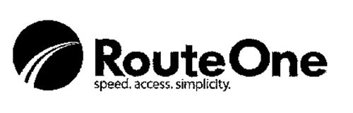 ROUTE ONE SPEED. ACCESS. SIMPLICITY.
