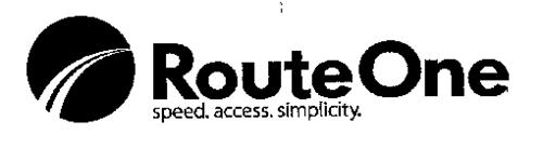 ROUTEONE SPEED. ACCESS. SIMPLICITY.