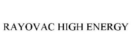 RAYOVAC HIGH ENERGY