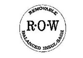 REMOVABLE BALANCED INSUL-SASH R.O.W