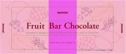ROYCE' FRUIT BAR CHOCOLATE STRAWBERRY MANGO CRANBERRY BANANA AND NUTTY PUFF IN CHOCOLATE