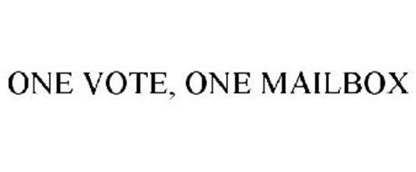 ONE VOTE, ONE MAILBOX