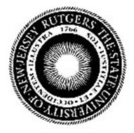 RUTGERS THE · STATE · UNIVERSITY · OF ·NEW · JERSEY SOL · IUSTITIAE · ET · OCCIDENTEM · ILLUSTRA 1766