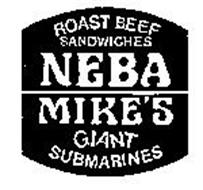 ROAST BEEF SANDWICHES NEBA MIKE'S GIANT SUBMARINES