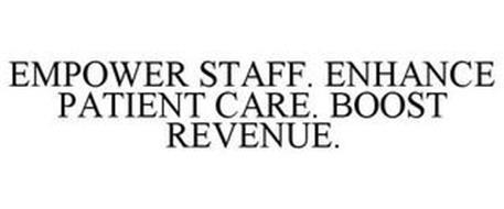 EMPOWER STAFF. ENHANCE PATIENT CARE. BOOST REVENUE.