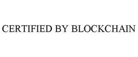 CERTIFIED BY BLOCKCHAIN