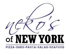 NEKO'S OF NEW YORK PIZZA-SUBS-PASTA-SALAD-SEAFOOD