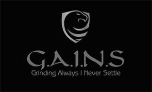 G.A.I.N.S. GRINDING ALWAYS I NEVER SETTLE